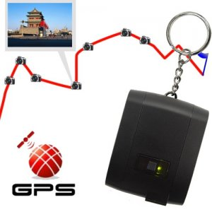 3-in-1 Keychain GPS Receivers with Memory + GPS Data Logger and Photo Tagger